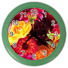BUNCH OF FLOWERS Color Wall Clocks