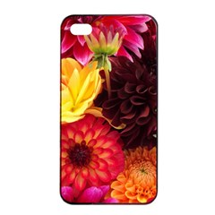 Bunch Of Flowers Apple Iphone 4/4s Seamless Case (black)