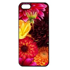BUNCH OF FLOWERS Apple iPhone 5 Seamless Case (Black)