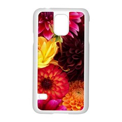 BUNCH OF FLOWERS Samsung Galaxy S5 Case (White)
