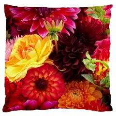 Bunch Of Flowers Large Flano Cushion Cases (two Sides)