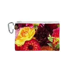 BUNCH OF FLOWERS Canvas Cosmetic Bag (S)