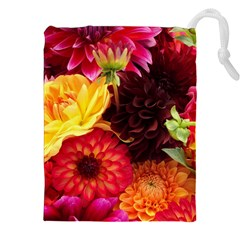 Bunch Of Flowers Drawstring Pouches (xxl)