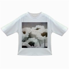 Black And White Flower Infant/toddler T Shirts