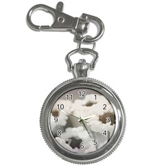 BLACK AND WHITE FLOWER Key Chain Watches