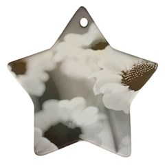 BLACK AND WHITE FLOWER Star Ornament (Two Sides)