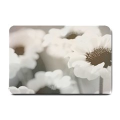 BLACK AND WHITE FLOWER Small Doormat
