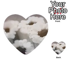 Black And White Flower Multi Purpose Cards (heart)
