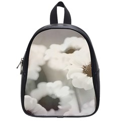 BLACK AND WHITE FLOWER School Bags (Small)