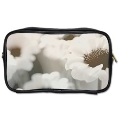 BLACK AND WHITE FLOWER Toiletries Bags