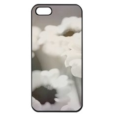 BLACK AND WHITE FLOWER Apple iPhone 5 Seamless Case (Black)