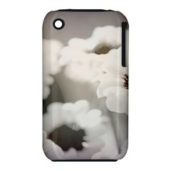 BLACK AND WHITE FLOWER Apple iPhone 3G/3GS Hardshell Case (PC+Silicone)