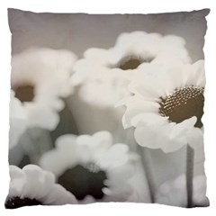 Black And White Flower Standard Flano Cushion Cases (one Side)