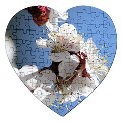 APRICOT BLOSSOMS Jigsaw Puzzle (Heart)