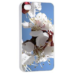 APRICOT BLOSSOMS Apple iPhone 4/4s Seamless Case (White)