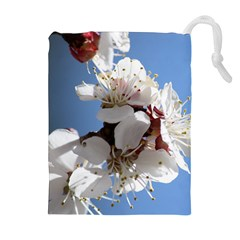 APRICOT BLOSSOMS Drawstring Pouches (Extra Large)