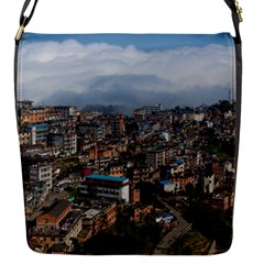 YUANYANG COUNTY Flap Messenger Bag (S)