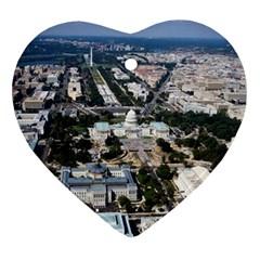 WASHINGTON DC Ornament (Heart)