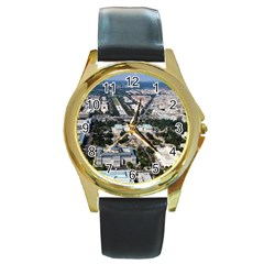 WASHINGTON DC Round Gold Metal Watches