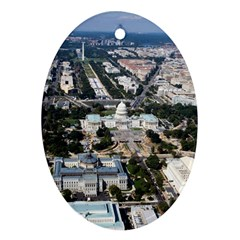 WASHINGTON DC Oval Ornament (Two Sides)