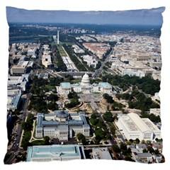 WASHINGTON DC Large Flano Cushion Cases (Two Sides)
