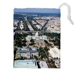 Washington Dc Drawstring Pouches (xxl)