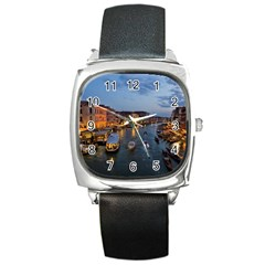 Venice Canal Square Metal Watches