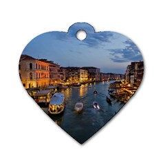 VENICE CANAL Dog Tag Heart (Two Sides)