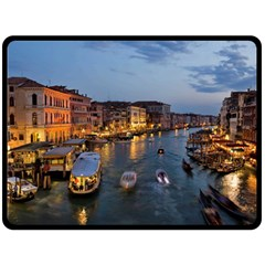 VENICE CANAL Fleece Blanket (Large)