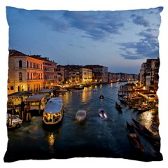 VENICE CANAL Large Flano Cushion Cases (Two Sides)