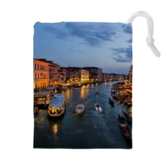 VENICE CANAL Drawstring Pouches (Extra Large)