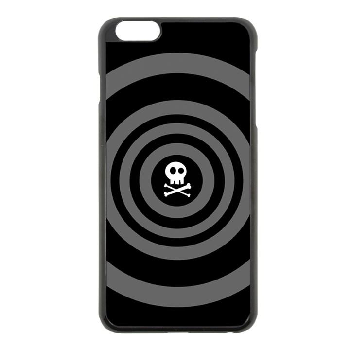 Cute Skull Apple iPhone 6 Plus/6S Plus Black Enamel Case