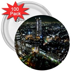 TOKYO NIGHT 3  Buttons (100 pack)