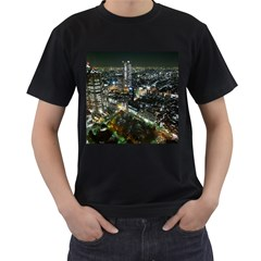 Tokyo Night Men s T Shirt (black) (two Sided)