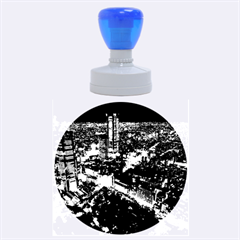 Tokyo Night Rubber Round Stamps (large)