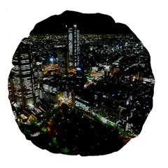 TOKYO NIGHT Large 18  Premium Flano Round Cushions