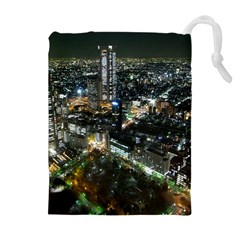 TOKYO NIGHT Drawstring Pouches (Extra Large)