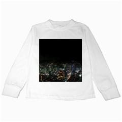SEOUL NIGHT LIGHTS Kids Long Sleeve T-Shirts