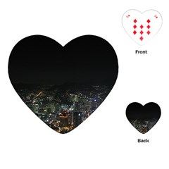 SEOUL NIGHT LIGHTS Playing Cards (Heart)