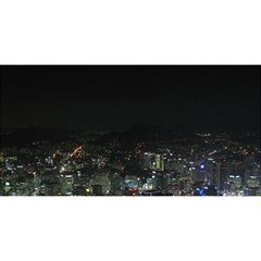 SEOUL NIGHT LIGHTS YOU ARE INVITED 3D Greeting Card (8x4)