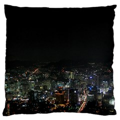 Seoul Night Lights Large Flano Cushion Cases (two Sides)