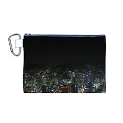 SEOUL NIGHT LIGHTS Canvas Cosmetic Bag (M)