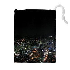 Seoul Night Lights Drawstring Pouches (extra Large)