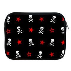 Stars, Skulls And Crossbones Apple Ipad 2/3/4 Zipper Cases