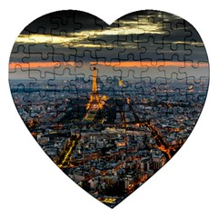 PARIS FROM ABOVE Jigsaw Puzzle (Heart)