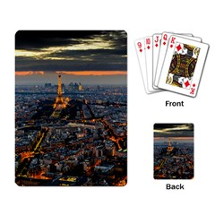 PARIS FROM ABOVE Playing Card