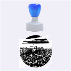 PARIS FROM ABOVE Rubber Round Stamps (Medium)