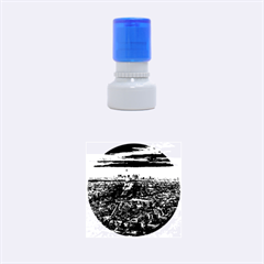 PARIS FROM ABOVE Rubber Round Stamps (Small)