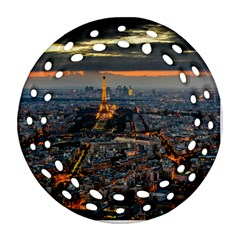 PARIS FROM ABOVE Round Filigree Ornament (2Side)