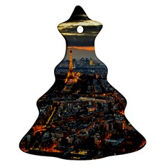 PARIS FROM ABOVE Christmas Tree Ornament (2 Sides)